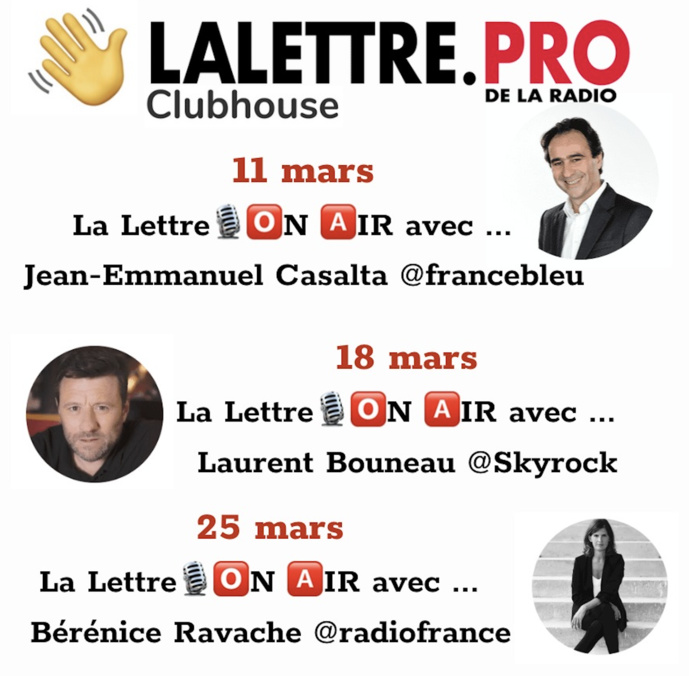 Sur ClubHouse, on parle aussi radio