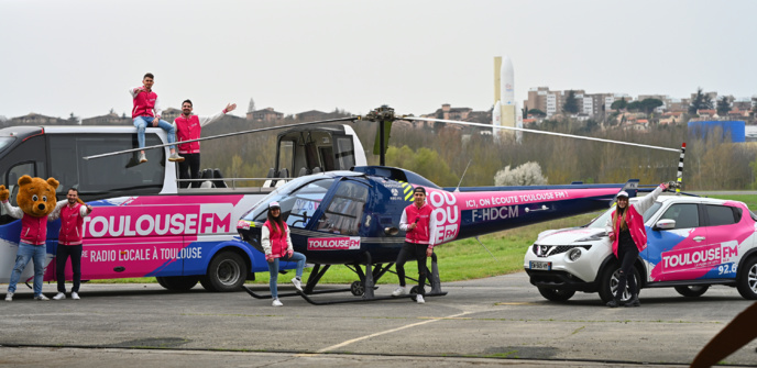 L'Hélico Toulouse FM prêt au décollage