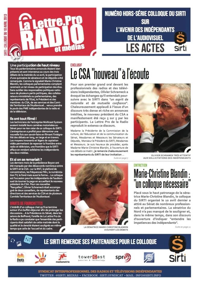 Vidéo - SIRTI - Colloque - Conclusions Philippe Gault