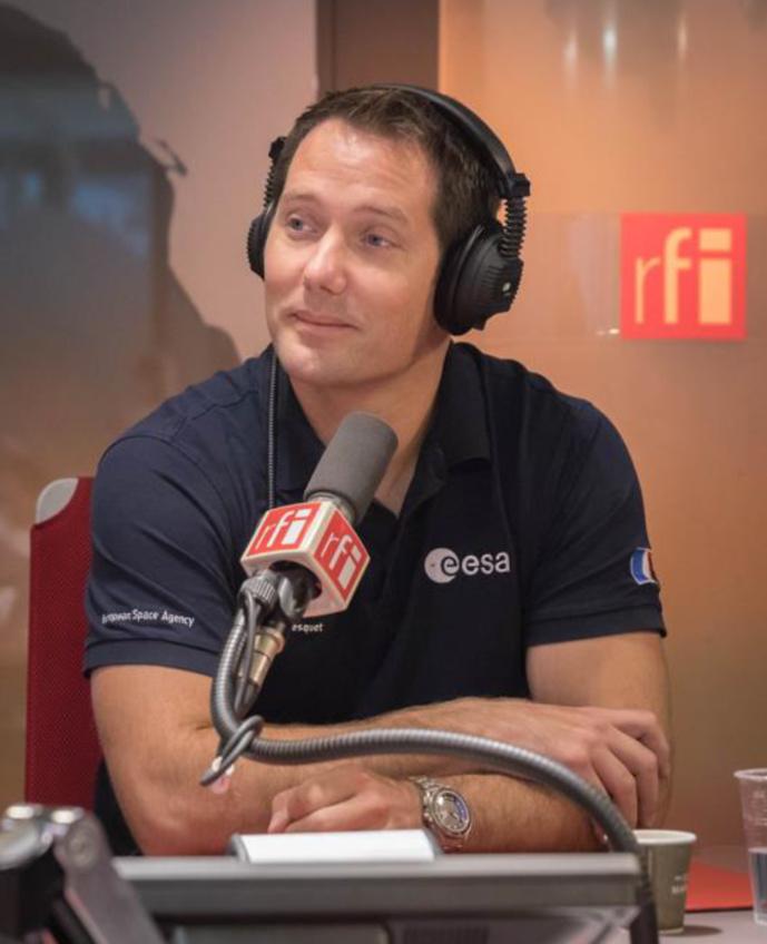 L'envol de Thomas Pesquet vers l'ISS sur RFI