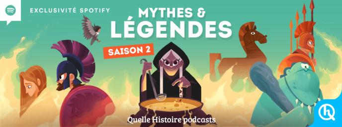 """La série audio à succès """"Mythes & Légendes"""" diffusée gratuitement sur Spotify"""