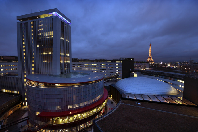 La Maison de Radio France de nuit © Radio France/Christophe Abramowitz