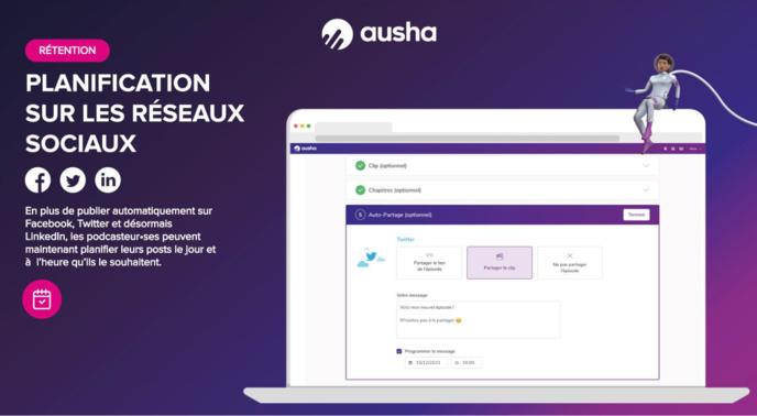 Ausha se positionne comme la plateforme avec tous les outils du Marketing du Podcast