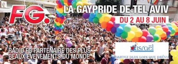 FG à la Gay Pride de Tel Haviv