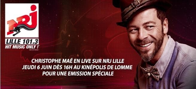 Christophe Maé sur NRJ Lille