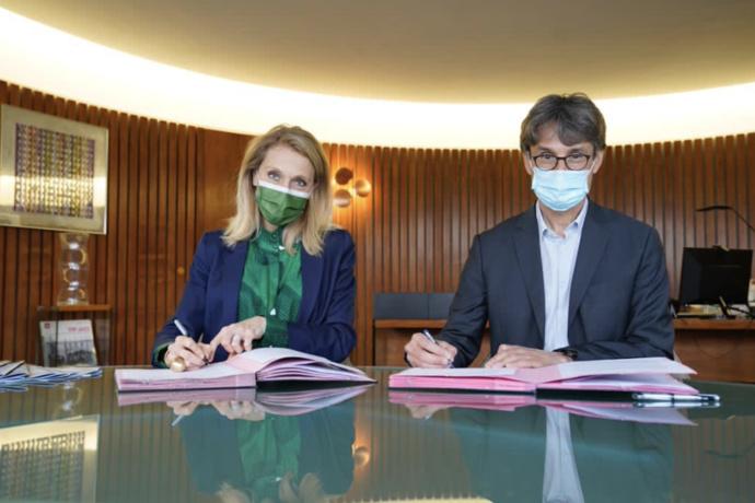 Sibyle Veil, Présidente-directrice générale de Radio France et Bruno Patino, Président d'ARTE © Christophe Abramowitz