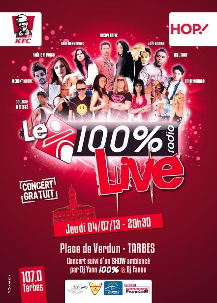 100 % live à Tarbes