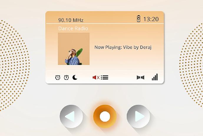 L'ancien visuel de l'écran à l'écoute de la radio