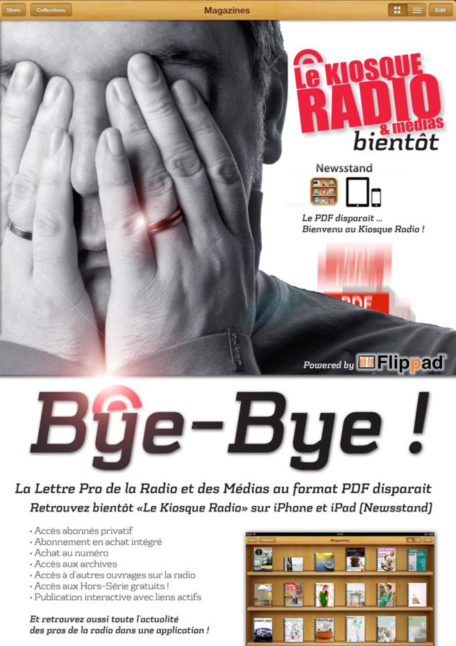 """Bye Bye - Le PDF nous quitte - Bienvenu """"Le Kiosque Radio"""""""