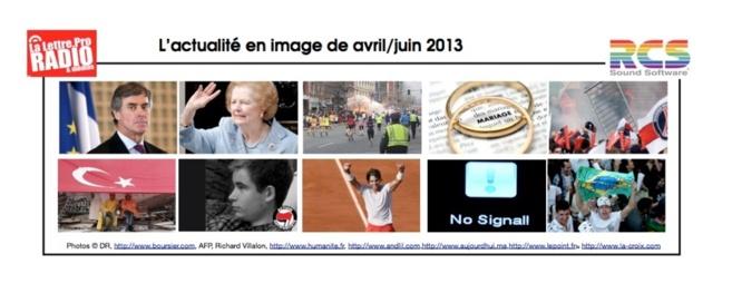 Les événements sur la période Avril - Juin 2013