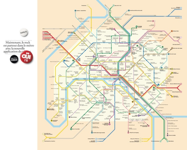 Regardez très attentivement le nom des stations du métro parisien...