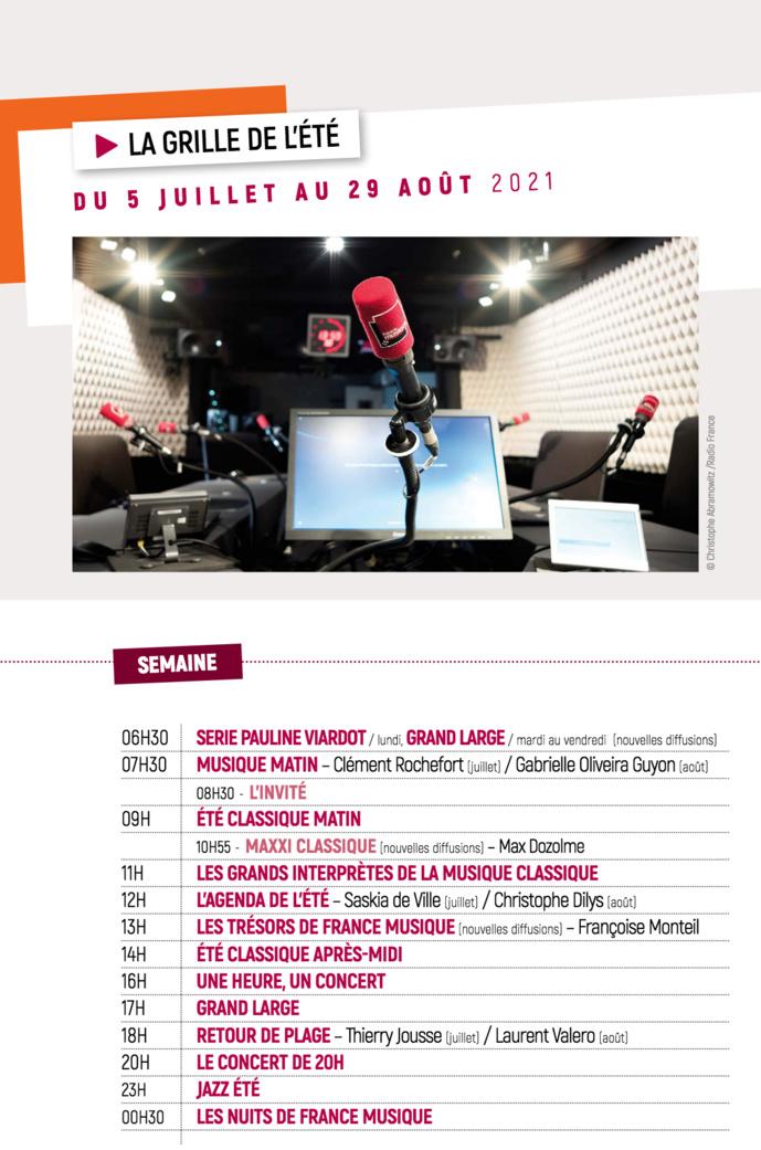 France Musique : une grille d'été dès le 5 juillet