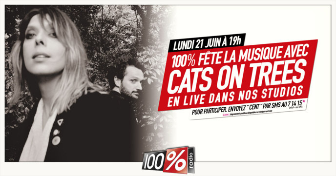 Cats On Trees fait son retour en live sur 100% Radio