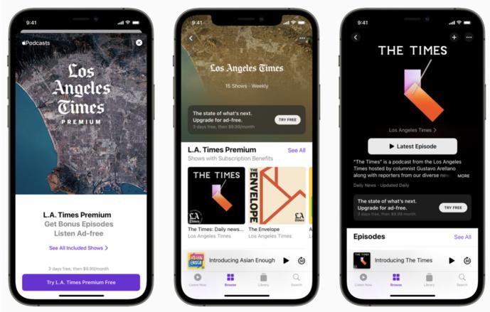 Les abonnements Apple Podcasts sont disponibles, partout dans le monde