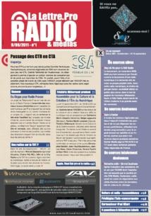 La couverture du premier numéro de la Lettre Pro de la Radio en septembre 2011