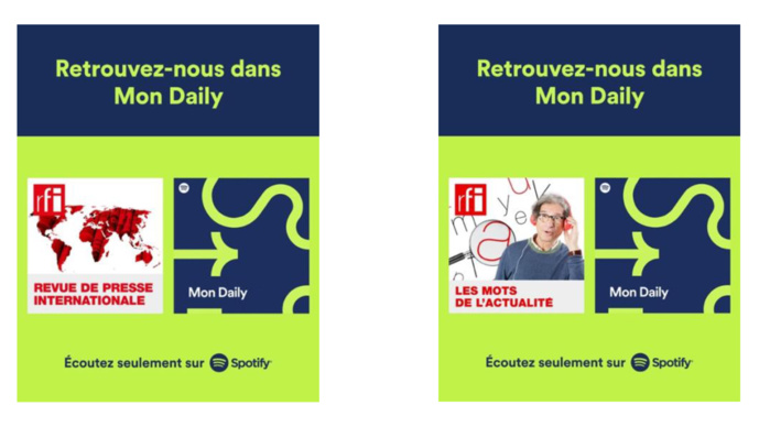 """Spotify : RFI fait son entrée dans """"Mon Daily"""""""