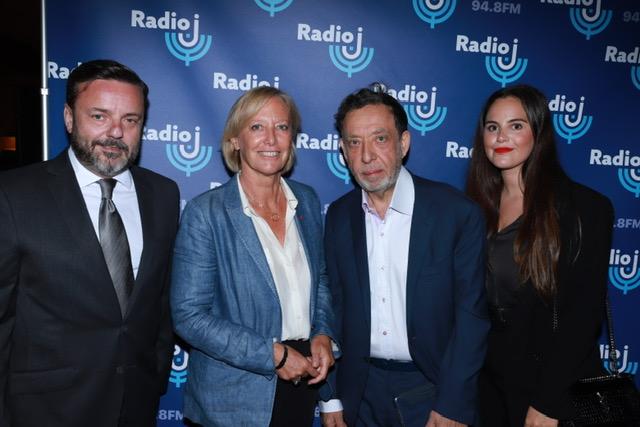 Emmanuel Rials, Sophie Cluzel secrétaire d'État chargée des personnes handicapées, Marc Eisenberg et Ilana Ferhadian journaliste à Radio J