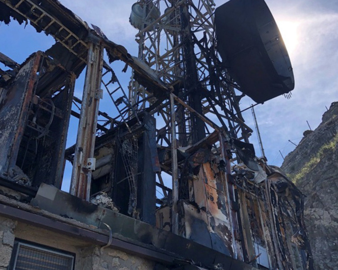 Incendie sur le site émetteur de l'Ile d'Elbe  © Radio France