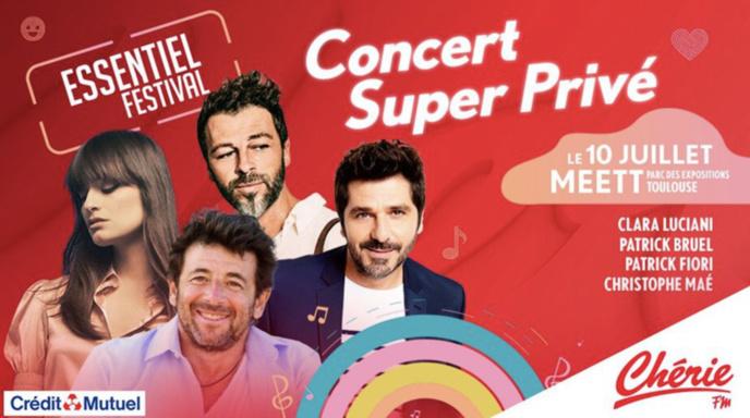 """Un """"Concert super privé""""  avec Chérie FM à Toulouse"""