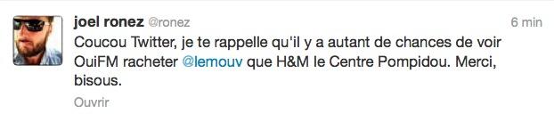 Le Mouv' casse Oüi FM