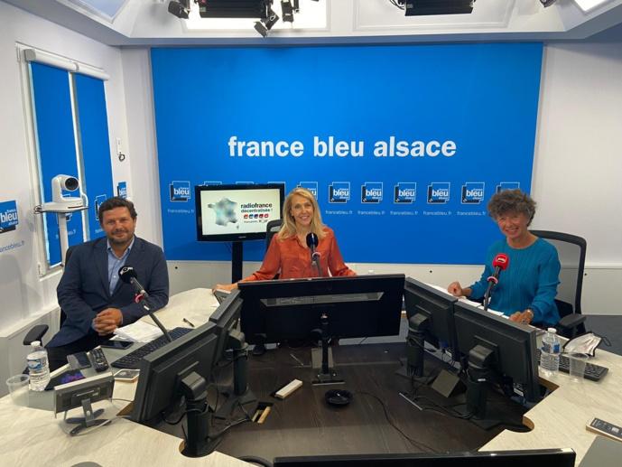 Pour la première fois, Radio France a proposé, ce matin, une conférence de presse délocalisée notamment à France Bleu Alsace, France Bleu Provence, France Bleu Mayenne, France Bleu Hérault qui ont accueilli les directrices et directeurs d'antenne © Radio France