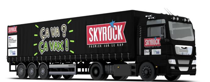 "Une tournée du Vaxibus ""Ça va ? Ça vax !"" avec Skyrock"