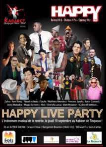 Happy FM organise l'Happy Live Party