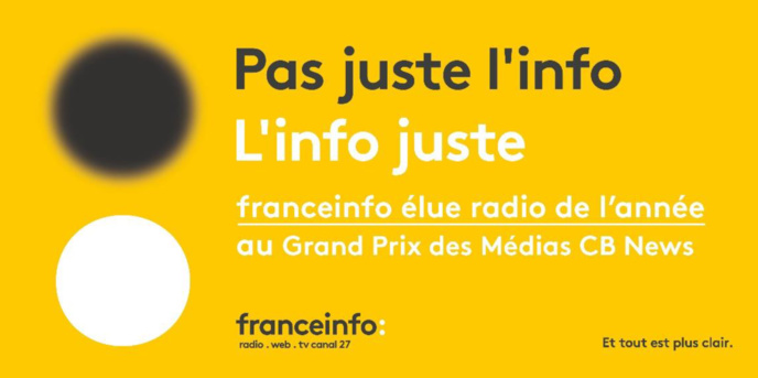 franceinfo élue meilleure station de radio au Grand Prix des médias
