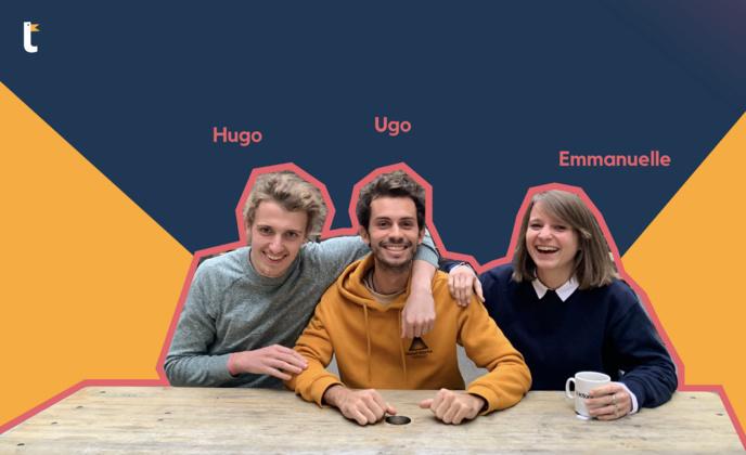Hugo, Ugo et Emmanuelle, les fondateurs de Tumult. © Tumult.