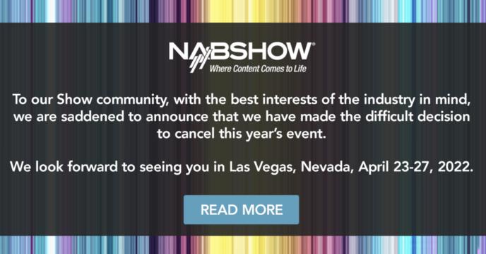 États-Unis : annulation du NAB Show