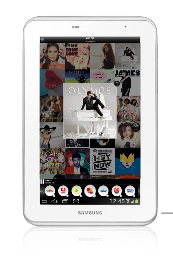 L'application est également disponible sous Android