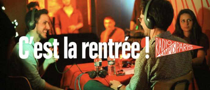 C'est la rentrée sur Radio Campus Paris