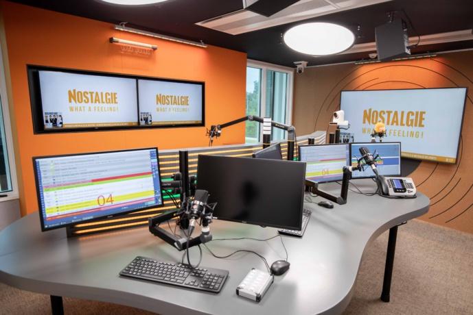 Le nouveau studio de Nostalgie Vlaanderen. © Luk De Groote.