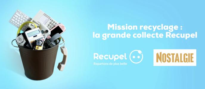 Nostalgie et Récupel s'unissent pour une grande action de recyclage
