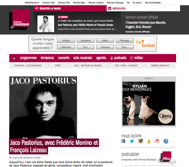 Nouveau site pour France Musique