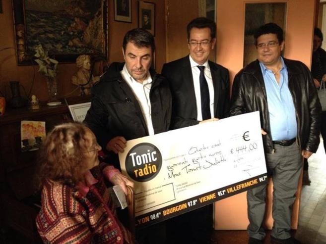 Tonic Radio a remboursé les 444 € d'impôts de Juliette Tamet, une centenaire de Caluire