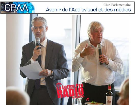 Franck Riester et Michel Français coprésident le CPAA © Véronique Partouche-Axelle Madelin