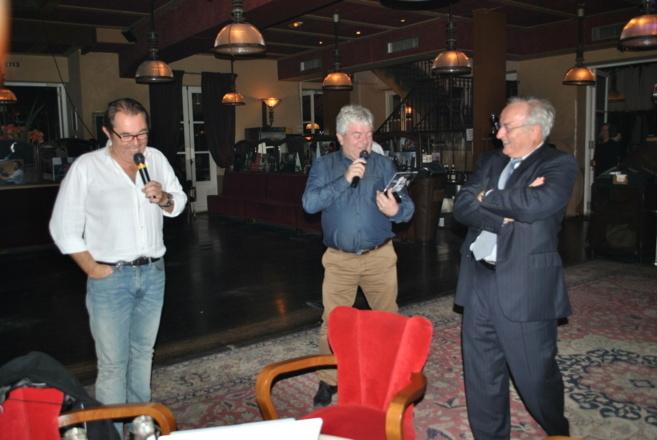 Hervé Pouchol, Bernard Chérèze et Bernard Miyet lors des 30 ans de la FM © Veleen