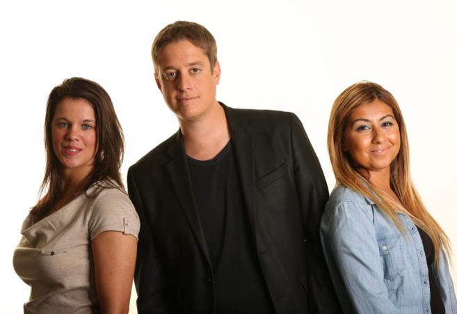 De gauche à droite Emeline Brogère, Cédric Norguet et Samya Guettiche