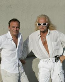 La star Michel Polnareff a reçu, chez lui en Californie, Fabien Lecoeuvre