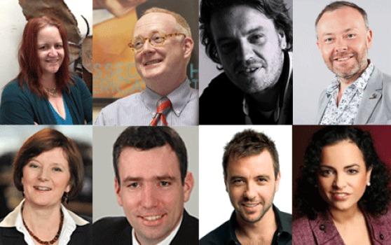 Catherine Burns, Chris Bannon, Goram Kurjak et Rick O`Shea (en haut). Helen Boaden, Martin Liss, Mike Fitzpatrick et Yvonne Malak (en bas)