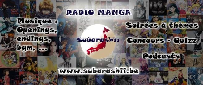 Subarashii : toute la culture manga dans une radio