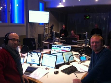 Philippe Costa et David Meilhac dans le nouveau studio © Radio France