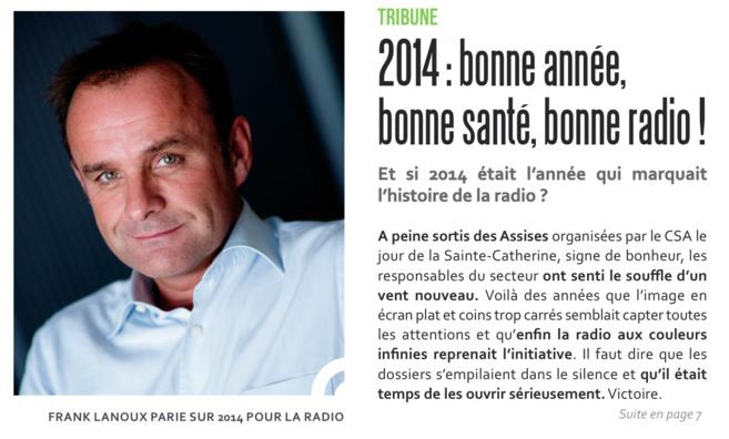 Bonne année, bonne santé, bonne radio !