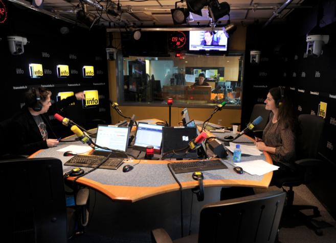 Un des studios de France Info © Radio France / Christophe Abramowitz