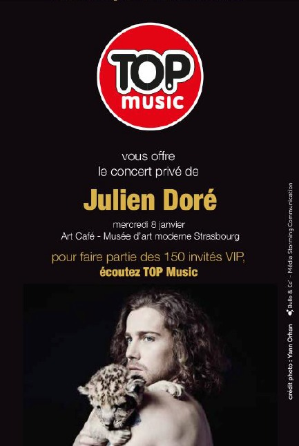 Julien Doré en show case avec Top Music