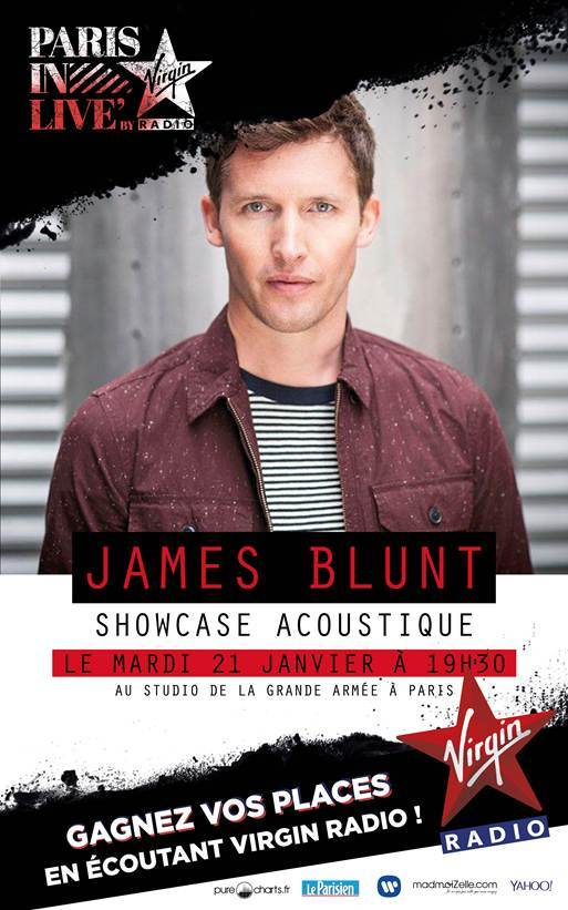 "Virgin Radio : James Blunt au ""Paris In Live"""