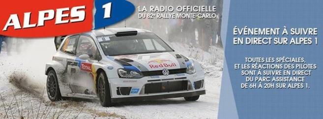 Alpes 1 couvre le rallye de Monte-Carlo