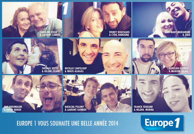 Europe 1 en mode Selfie dans l'édition de ce matin du quotidien Le Parisien