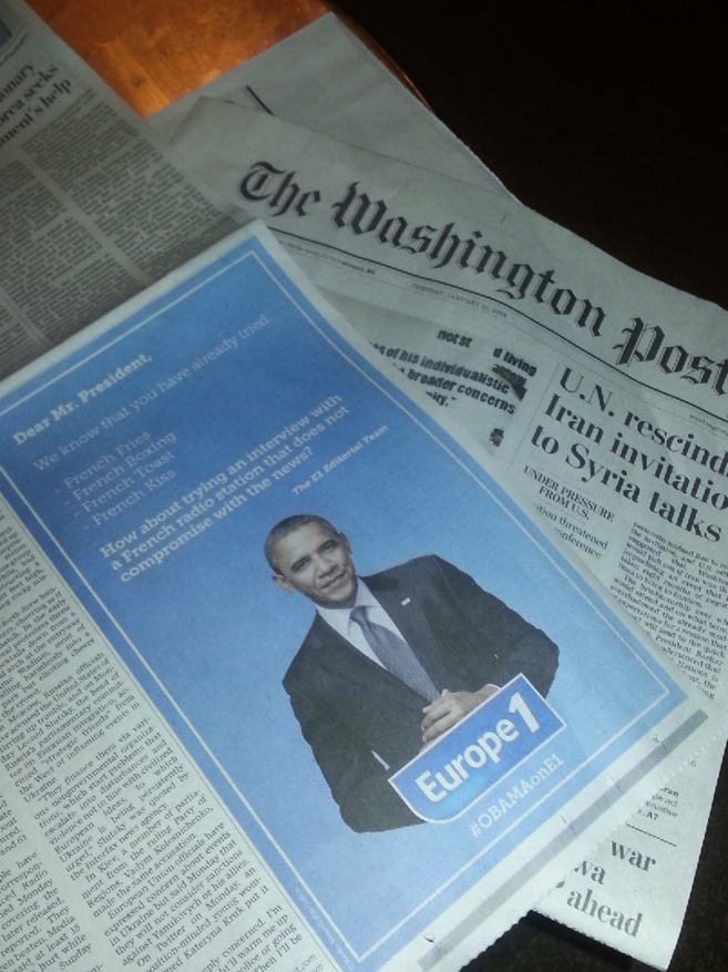 Europe 1 dans le Washington Post